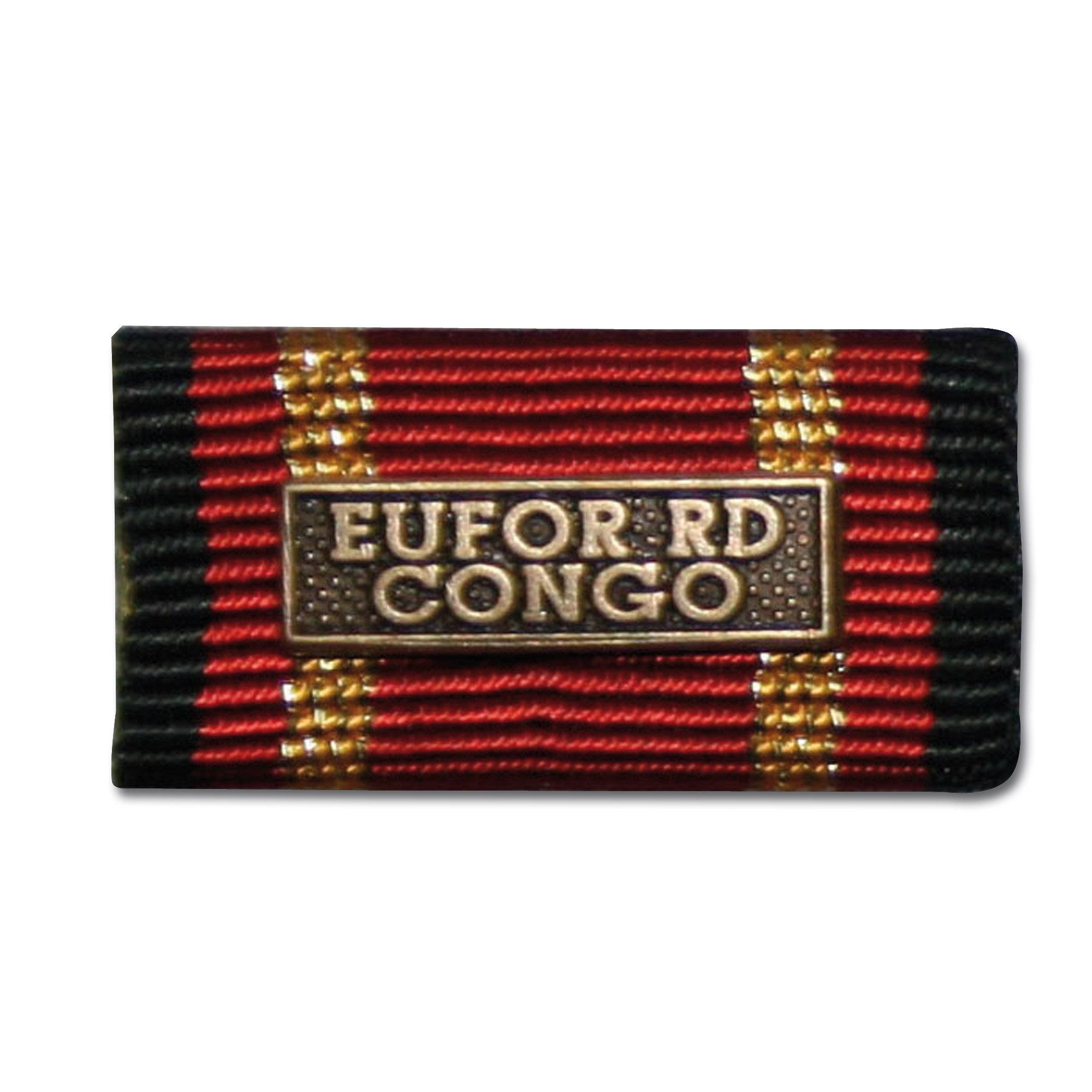 Ordensspange Auslandseinsatz EUFOR RD CONGO bronze