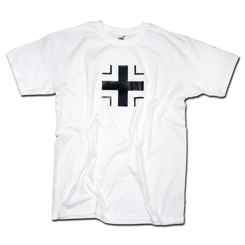 T-Shirt Milty Balkenkreuz weiss
