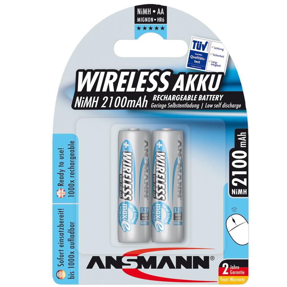 Akku Ansmann NiMH Mignon AA Blue Line WL 2er-Pack