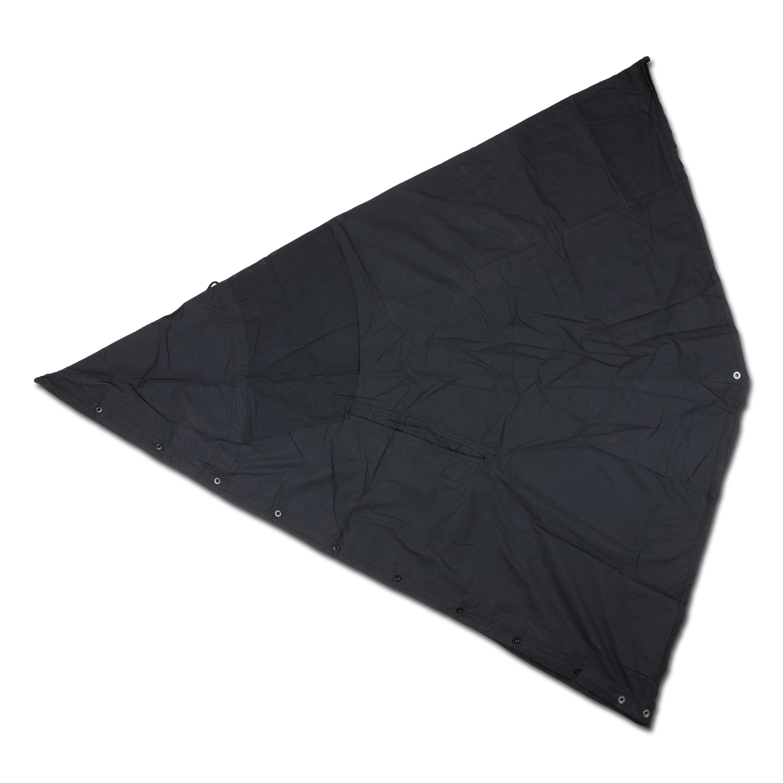 Polnische Zeltplane Pelerine schwarz gebraucht
