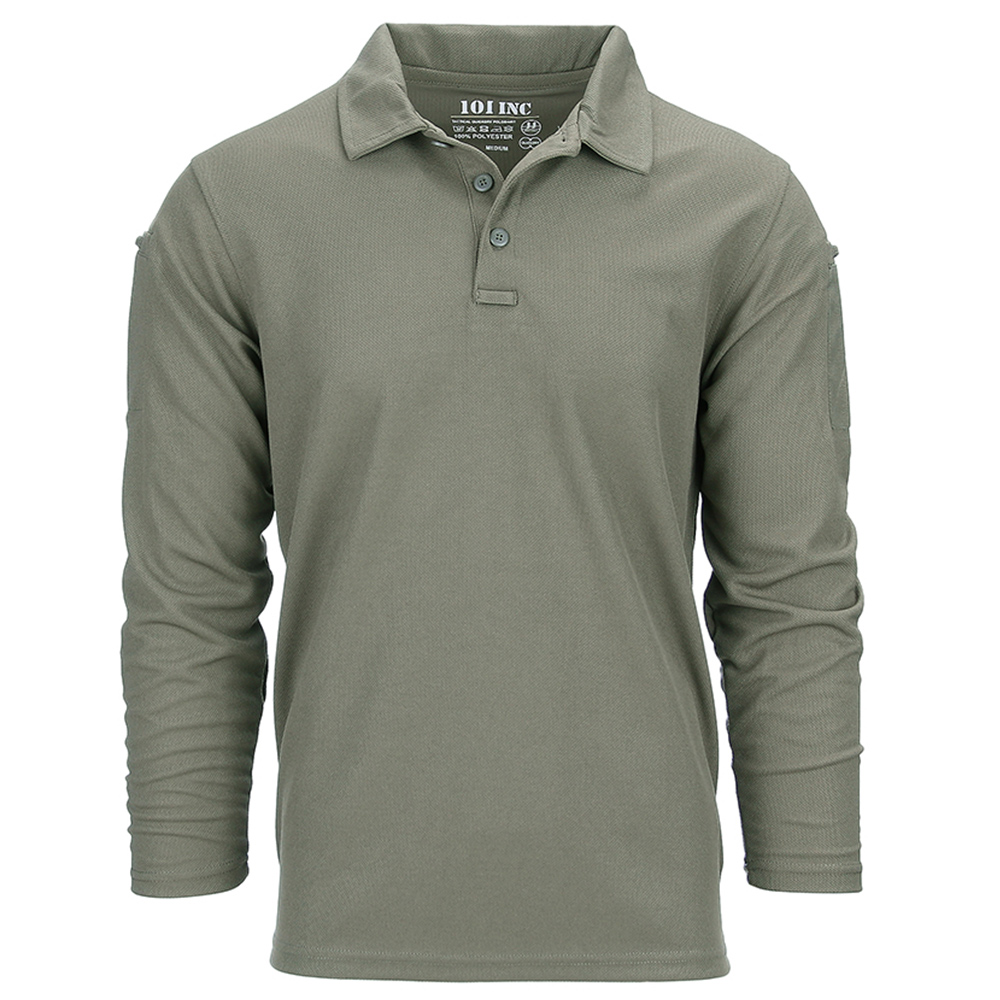 101 Inc. Longsleeve Tactical Polo Quick Dry oliv