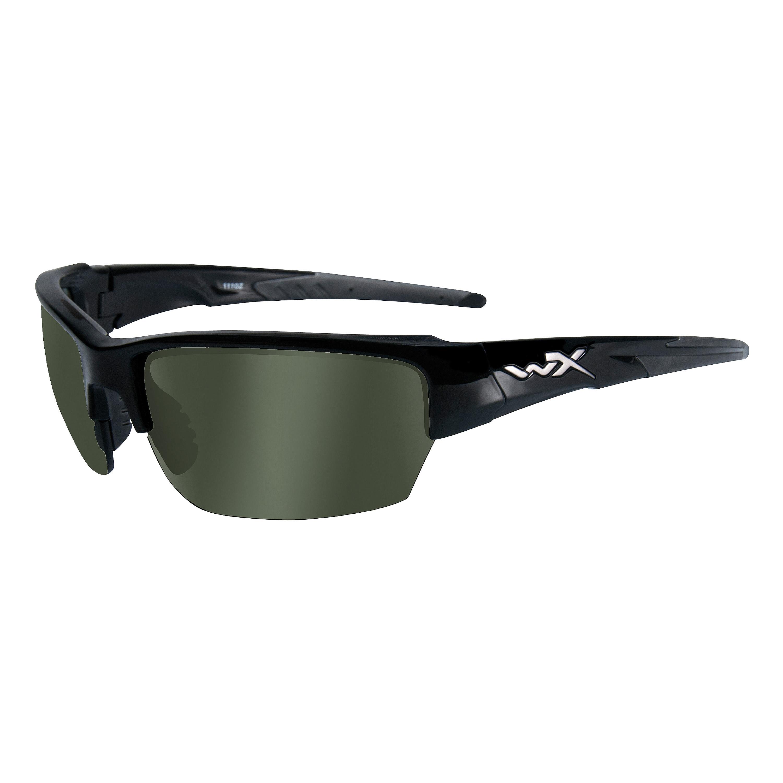 Brille Wiley X WX Saint glänzend schwarz/rauchgrün