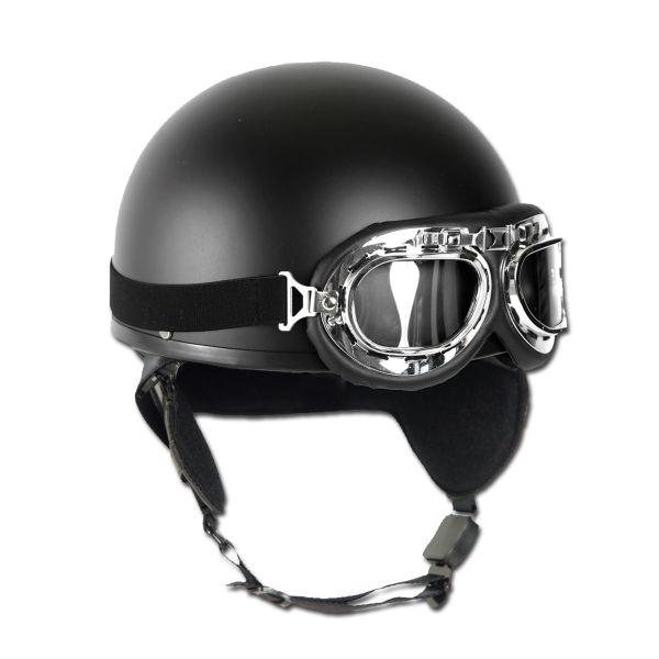 Retro Helm Halbschale schwarz
