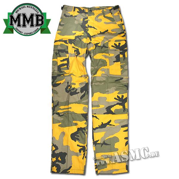 Feldhose BDU Style MMB yellow-camo