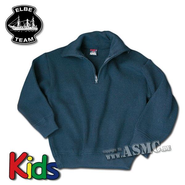 Kinder Pullover Troyer blau