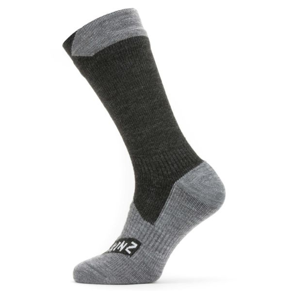 Sealskinz Socken Waterproof All Weather Mid Length schwarz grau