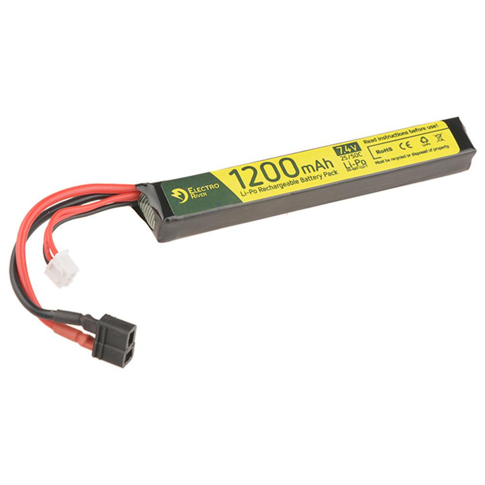 Electro River Li-Po Akku 7.4 V 1200 mAh Stick Type 25/50C