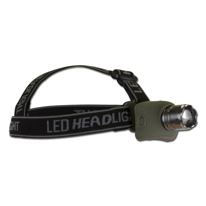 Mil-Tec Cree LED Kopflampe oliv