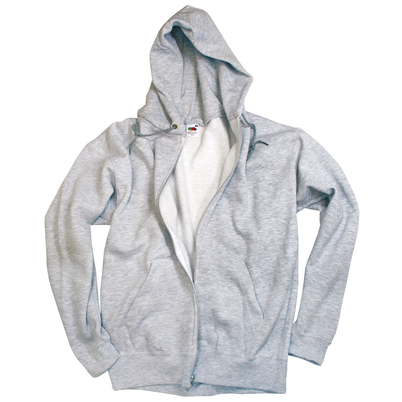 Zip-Hood Sweatshirt grau