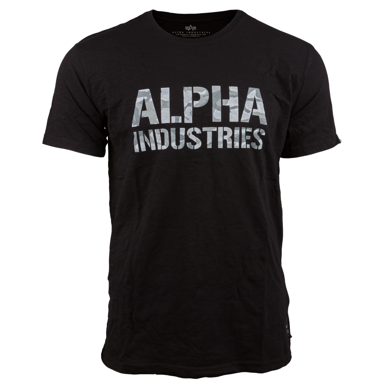 Alpha Industries T-Shirt Camo Print schwarz weiß camo