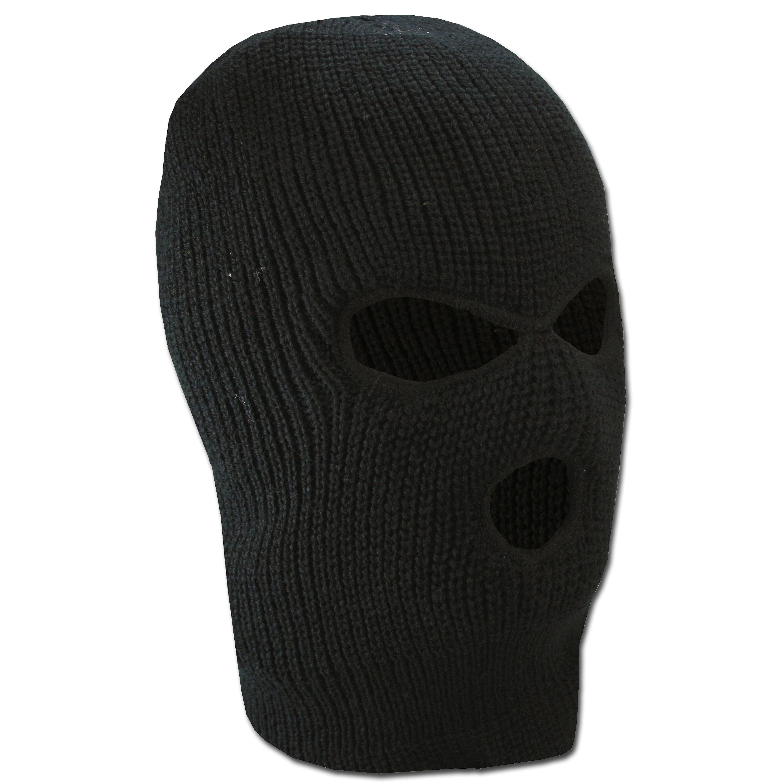 Kopfhaube 3-Loch schwarz