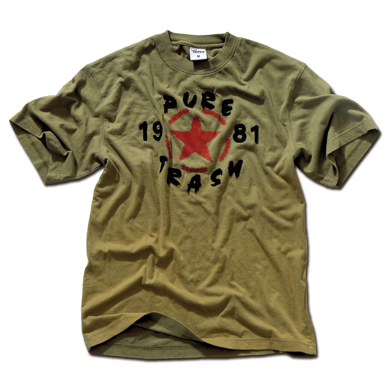 T-Shirt Vintage Pure Trash oliv