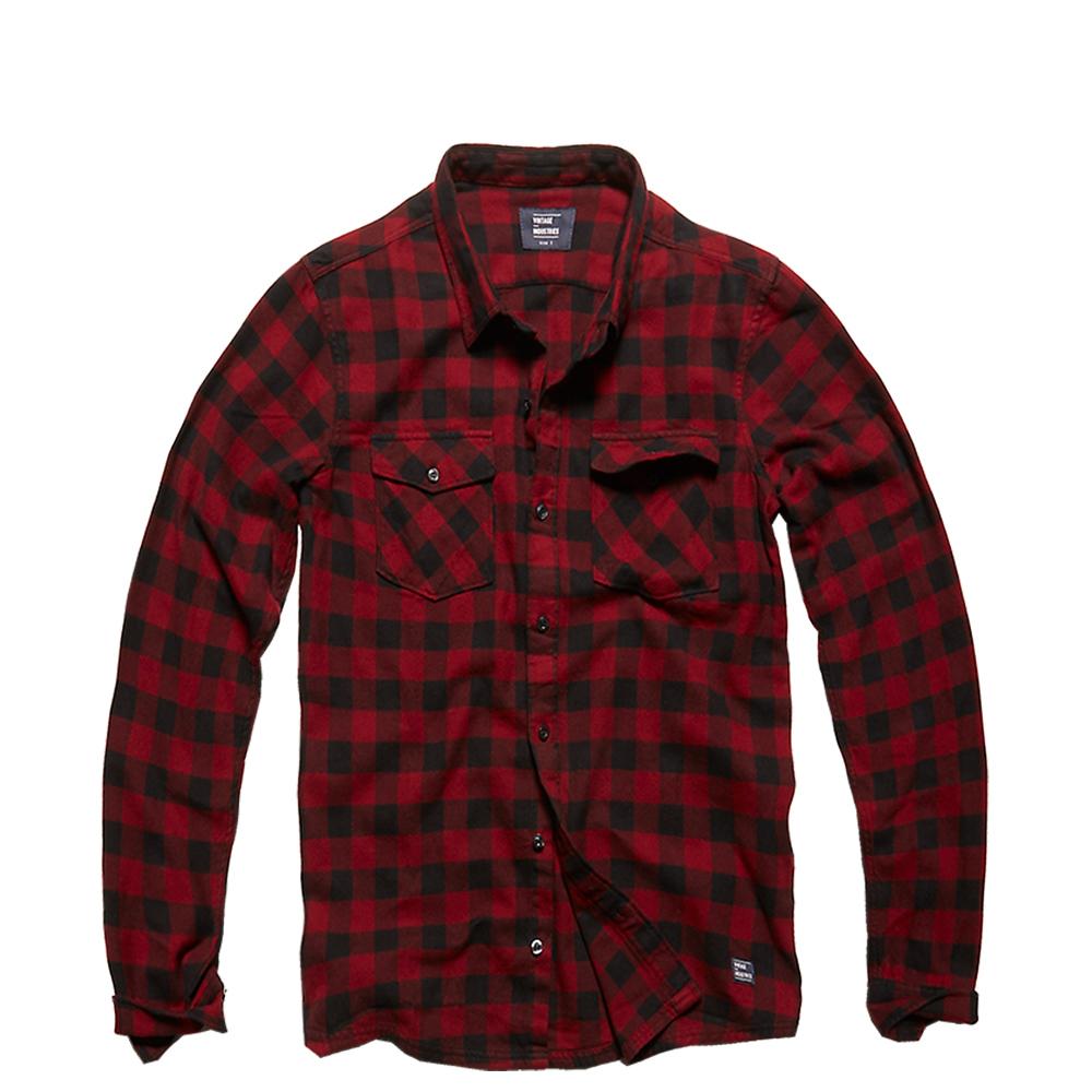 Vintage Industries Hemd Harley Shirt red check
