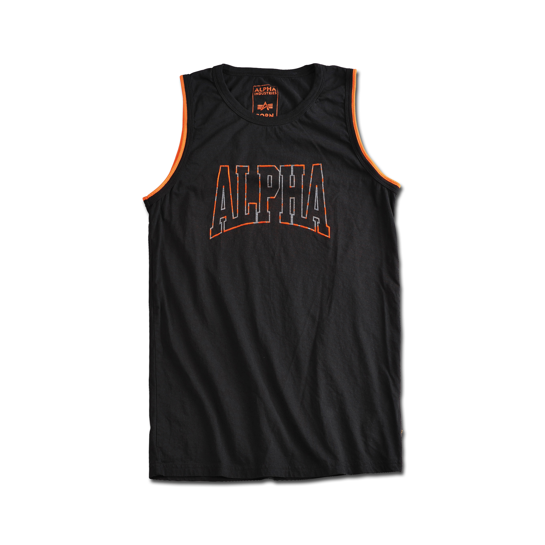 Alpha Industries Tank Top Alpha Print schwarz