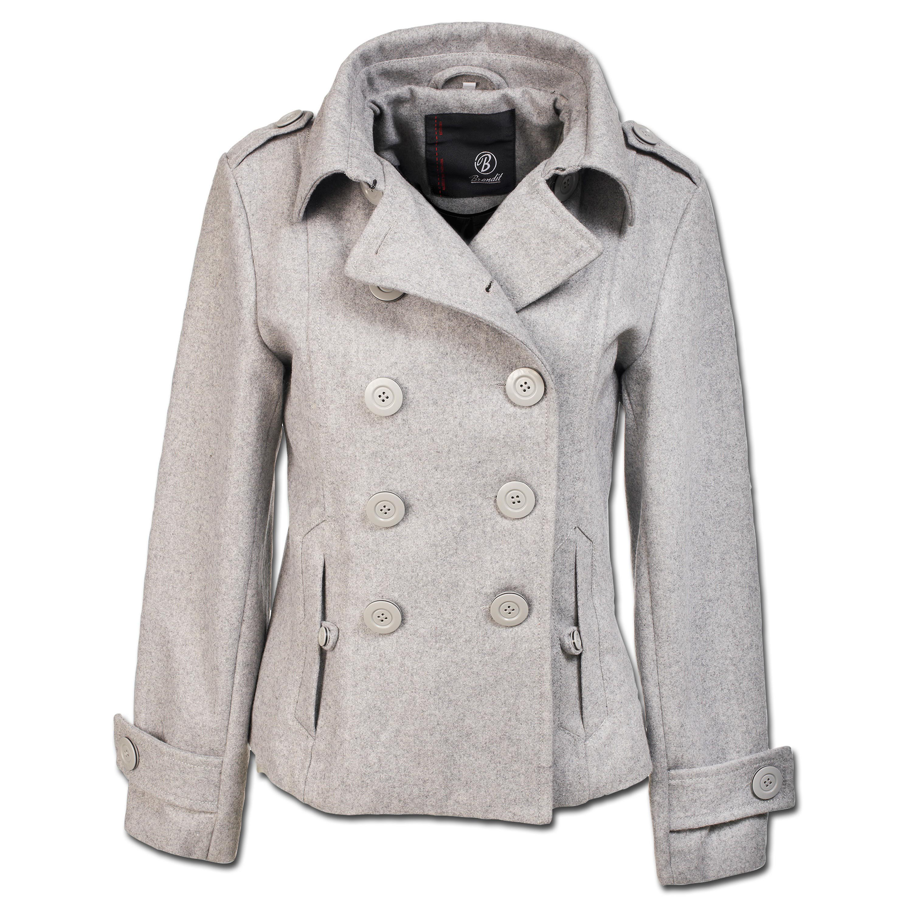 Jacke Brandit Ladies Upper East Coat grau