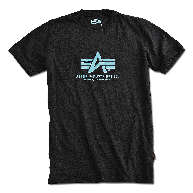 T-Shirt Alpha Industries Basic schwarz/blau