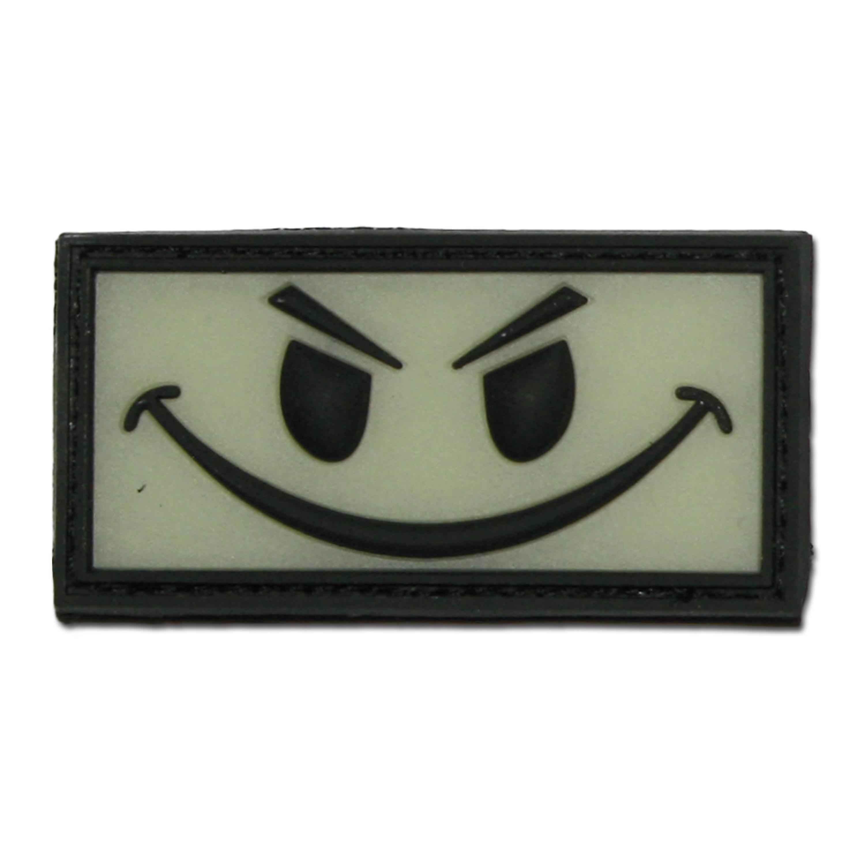 3D-Patch Evil Smiley nachleuchtend