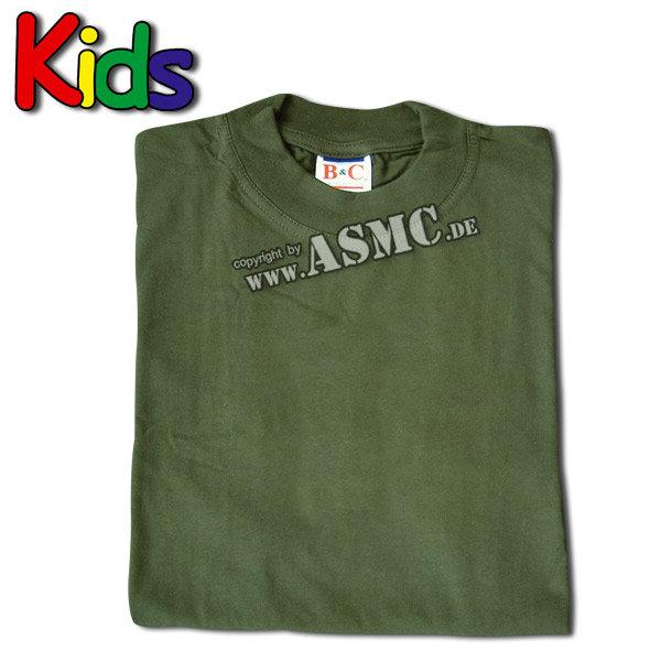 Kinder T-Shirt oliv