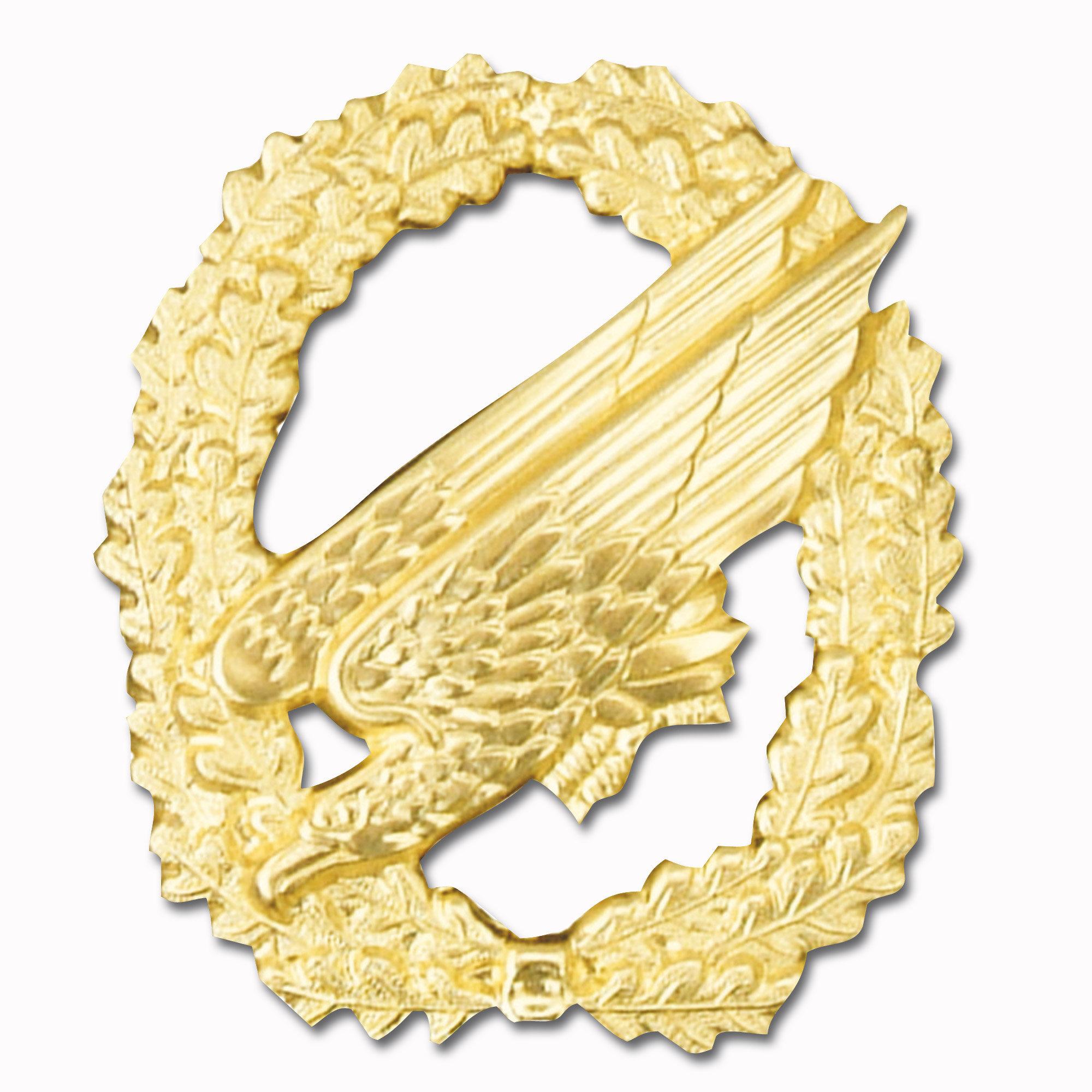 Abz. Barett Fallschirmjäger ohne Flagge gold