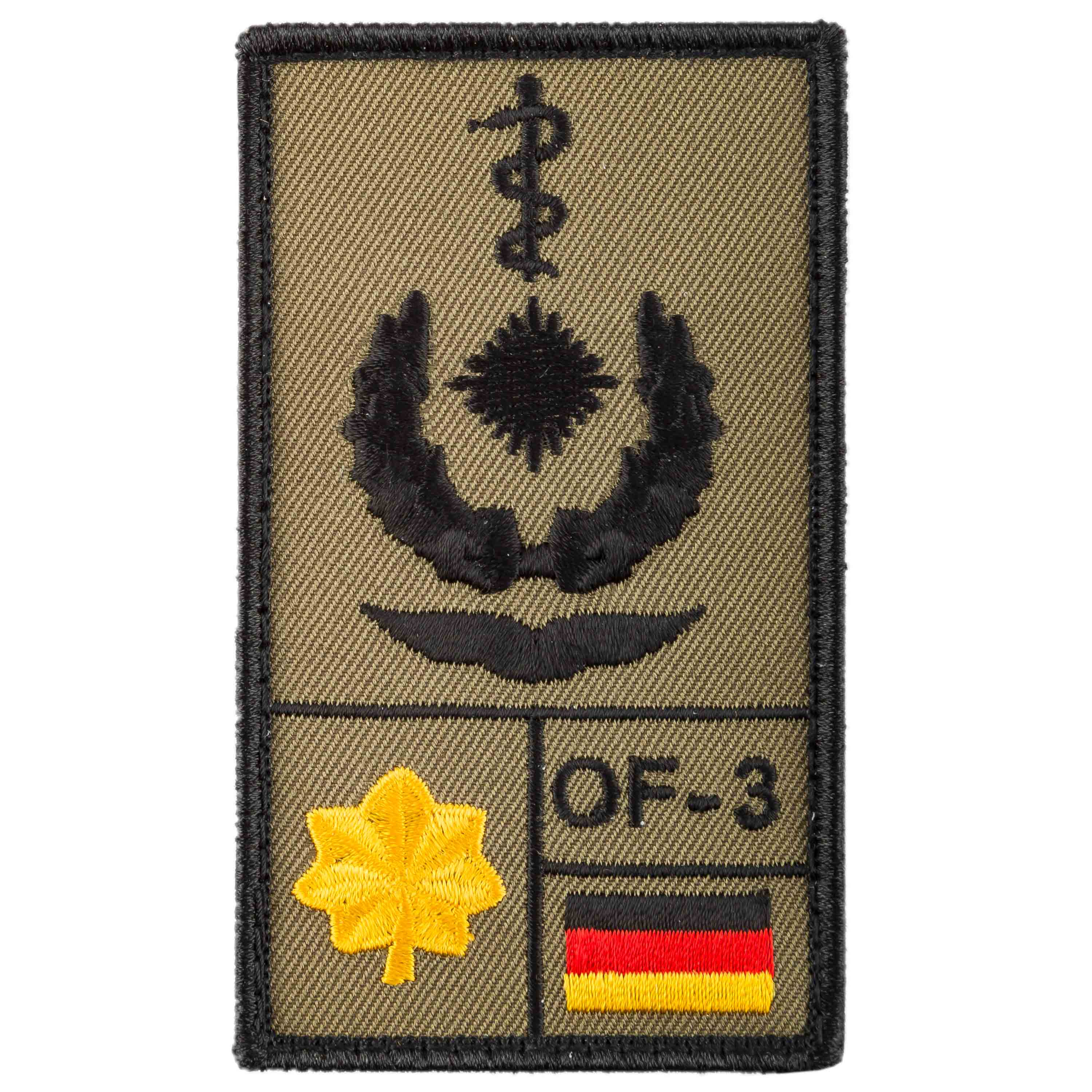 Café Viereck Rank Patch Oberstabsarzt Luftwaffe sand
