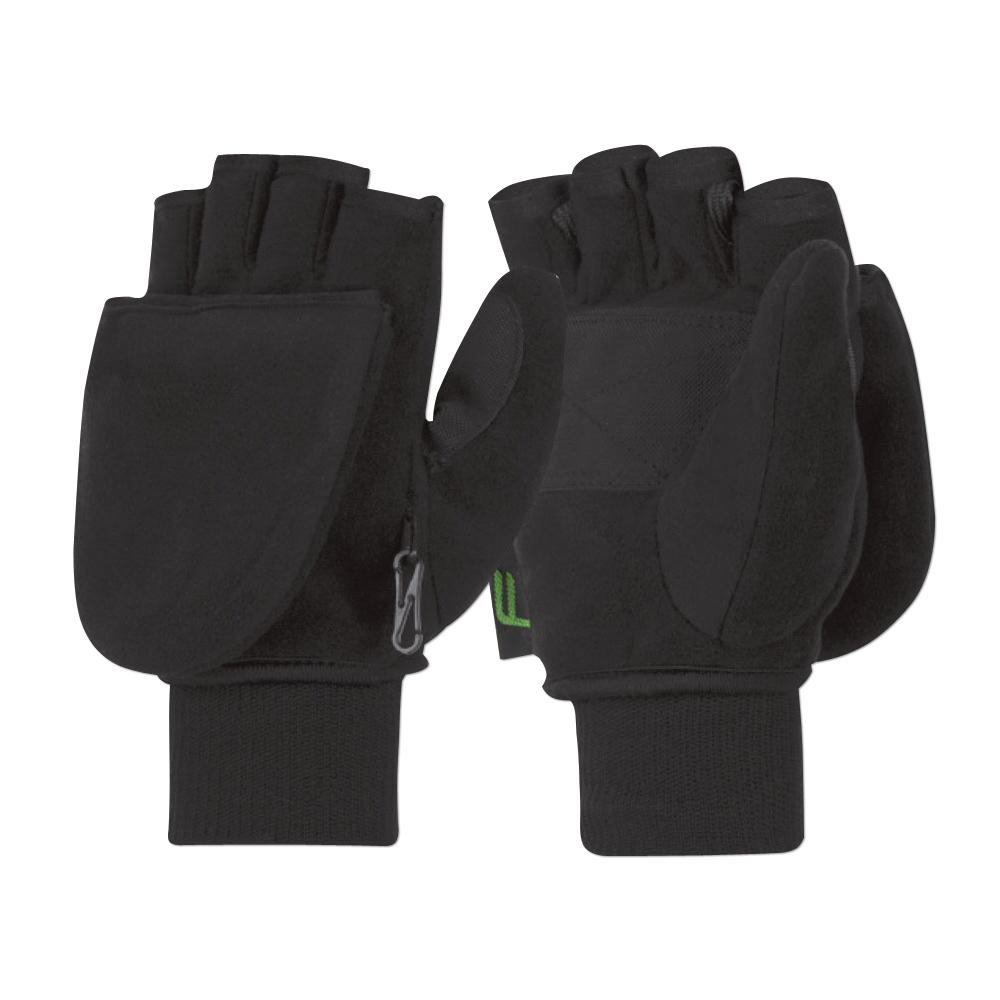 Handschuhe F Mittens Flap schwarz