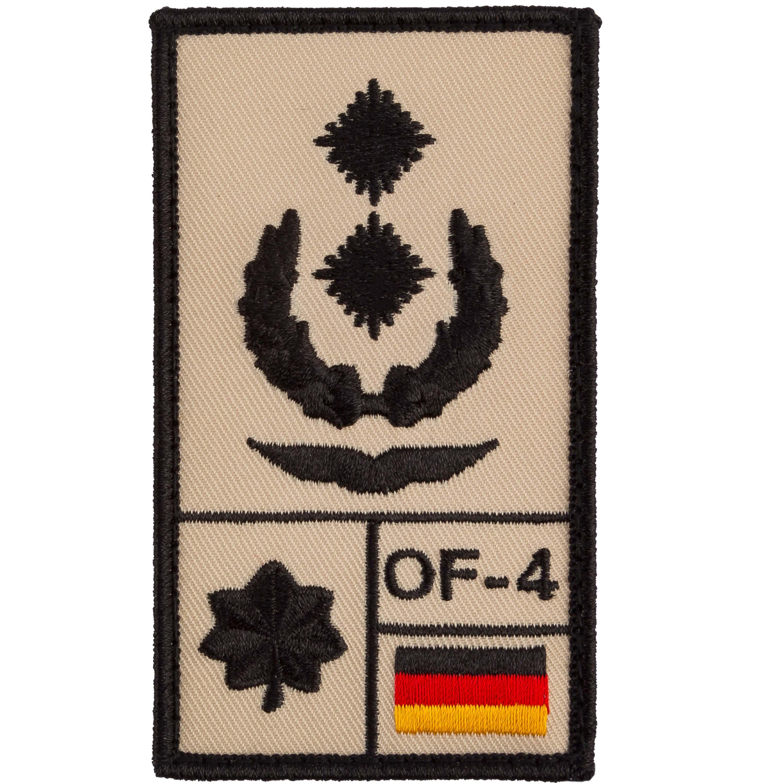 Café Viereck Rank Patch Oberstleutnant Luftwaffe sand