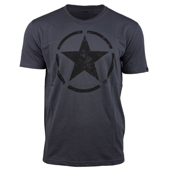 Alpha Industries T-Shirt Star T grau