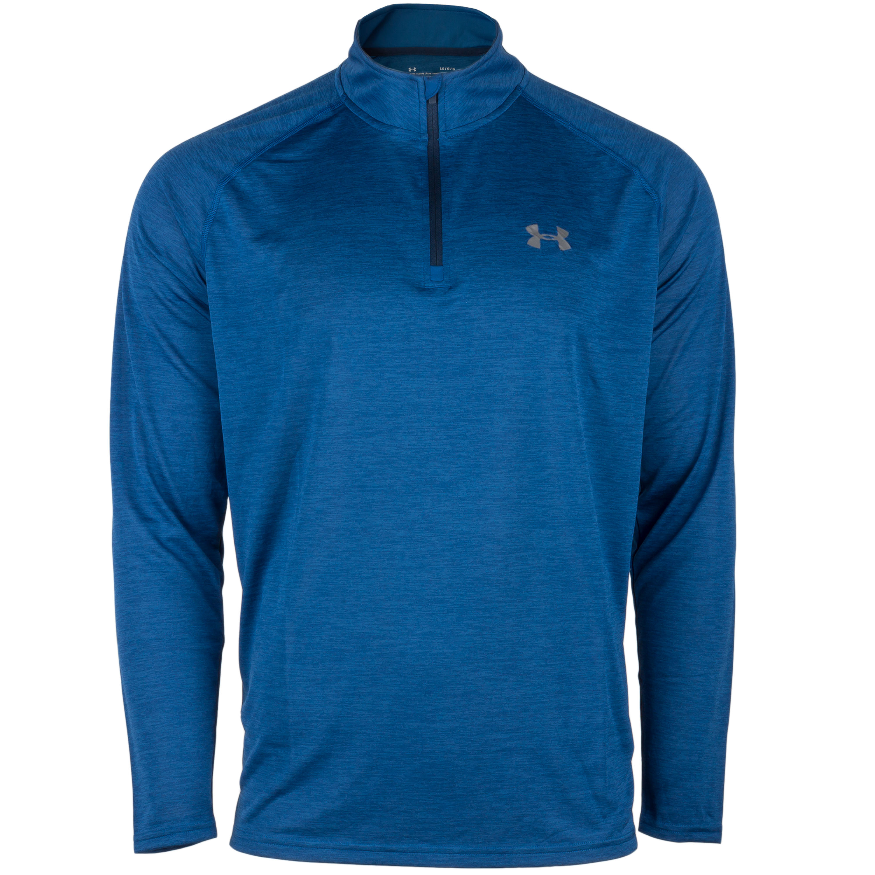 Under Armour Pullover Tech 1/4 Zip blau meliert