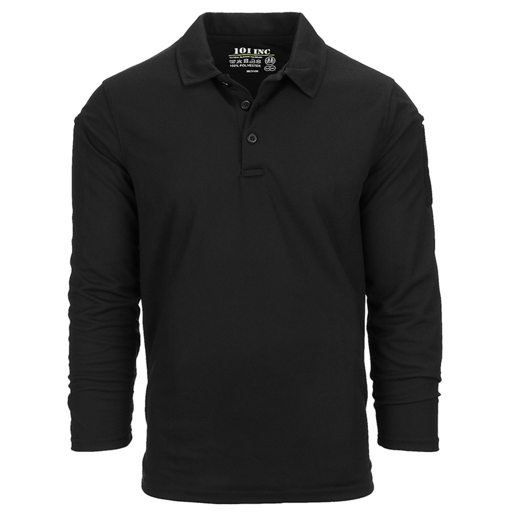 101 Inc. Longsleeve Tactical Polo Quick Dry black