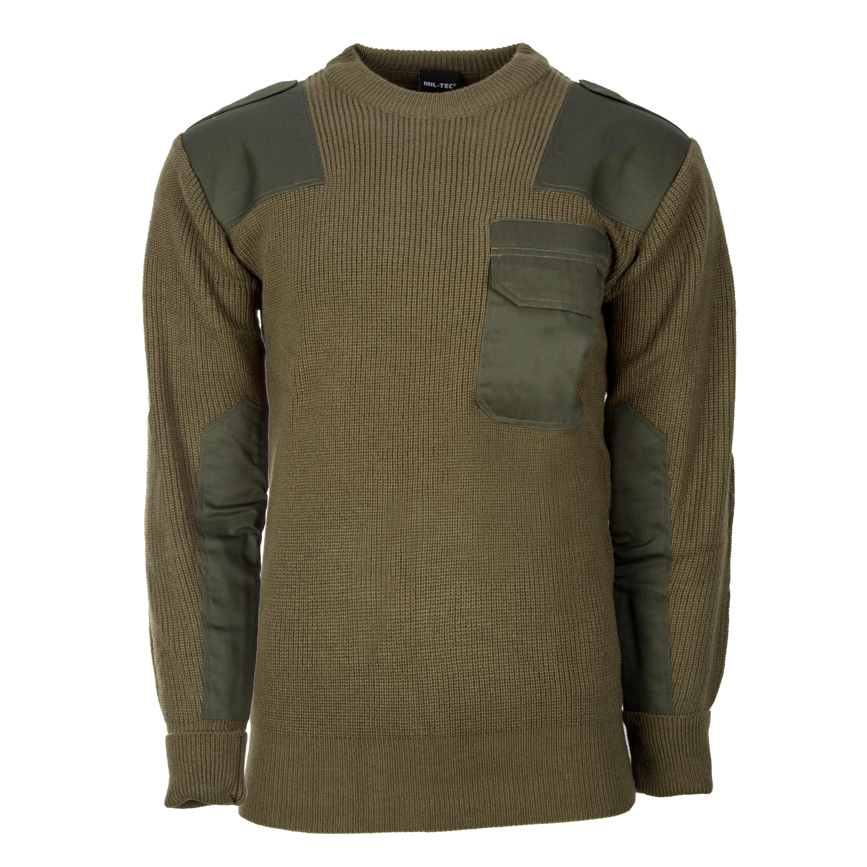 BW Pullover Acryl oliv