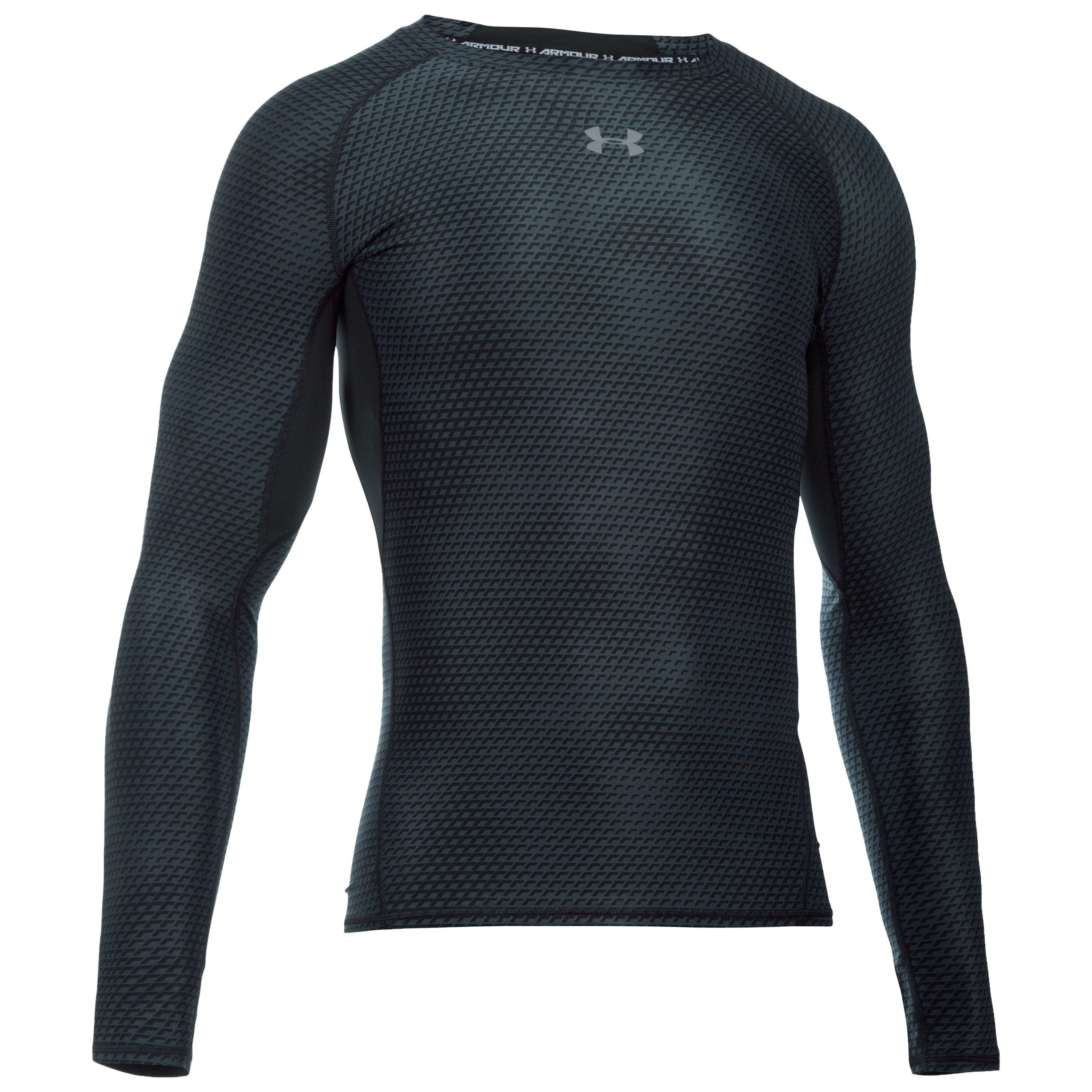 Under Armour HeatGear Armour Printed Longsleeve schwarz