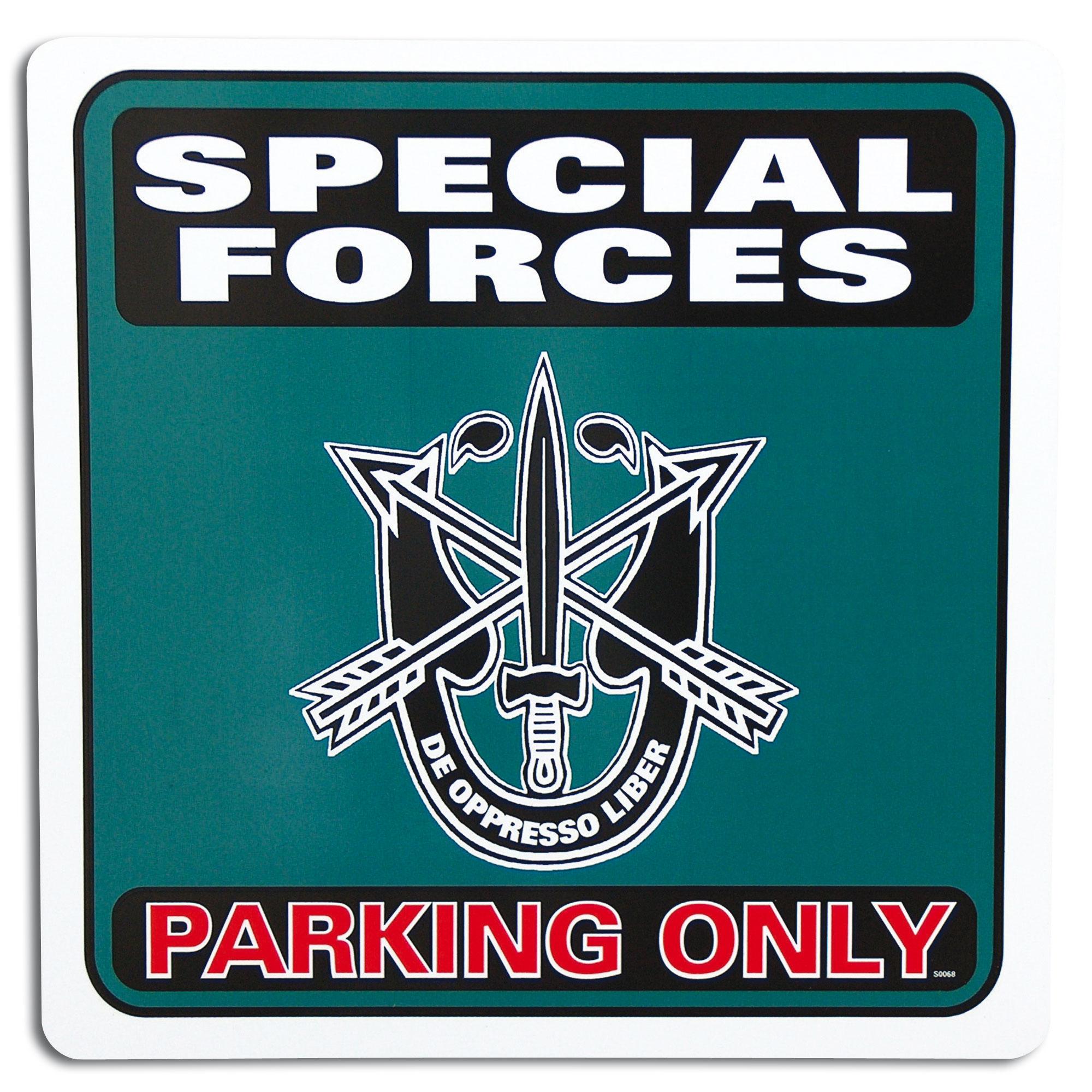 Parkschild Special Forces