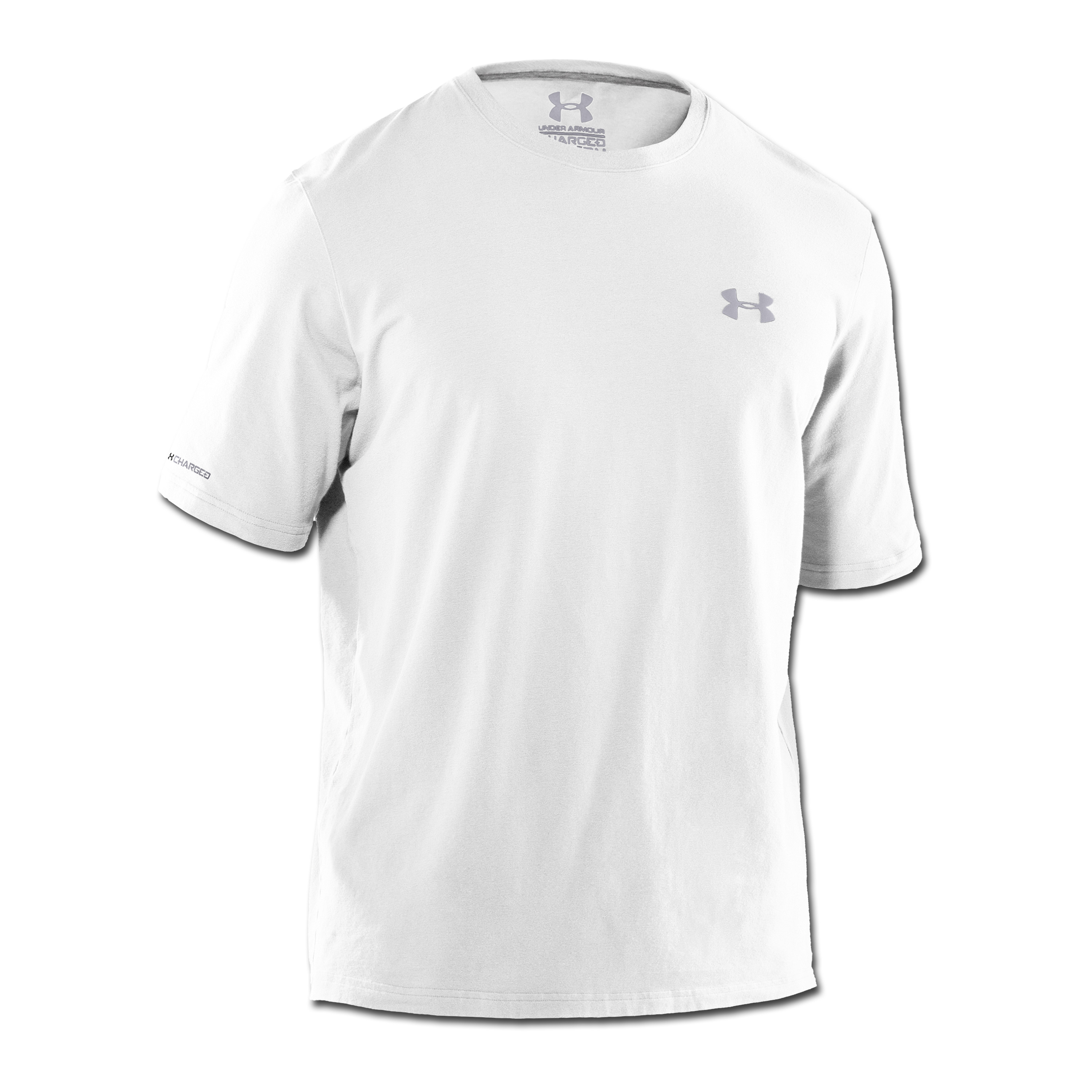 Under Armour HeatGear T-Shirt Charged Cotton weiß