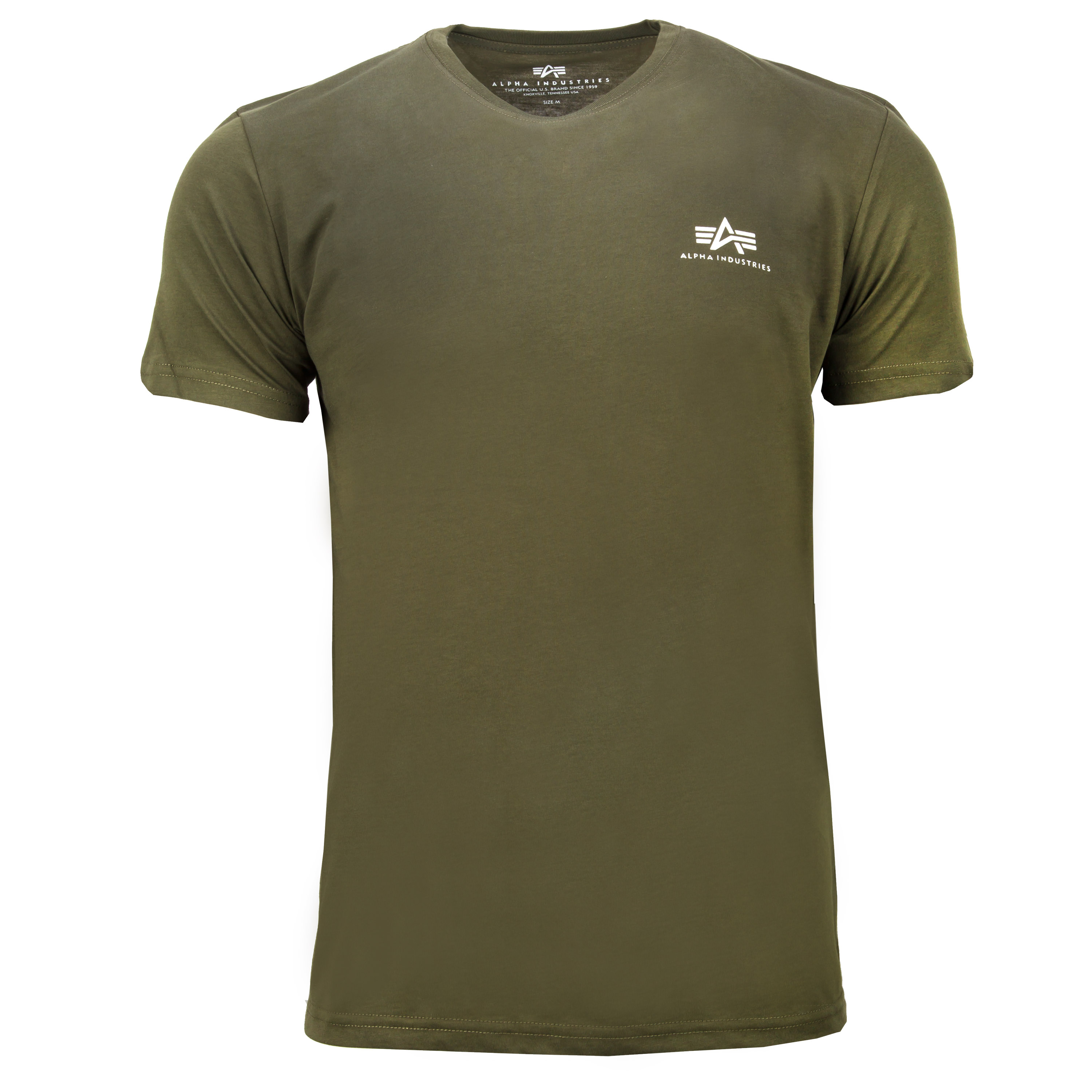 Alpha Industries T-Shirt Basic Small Logo dark green