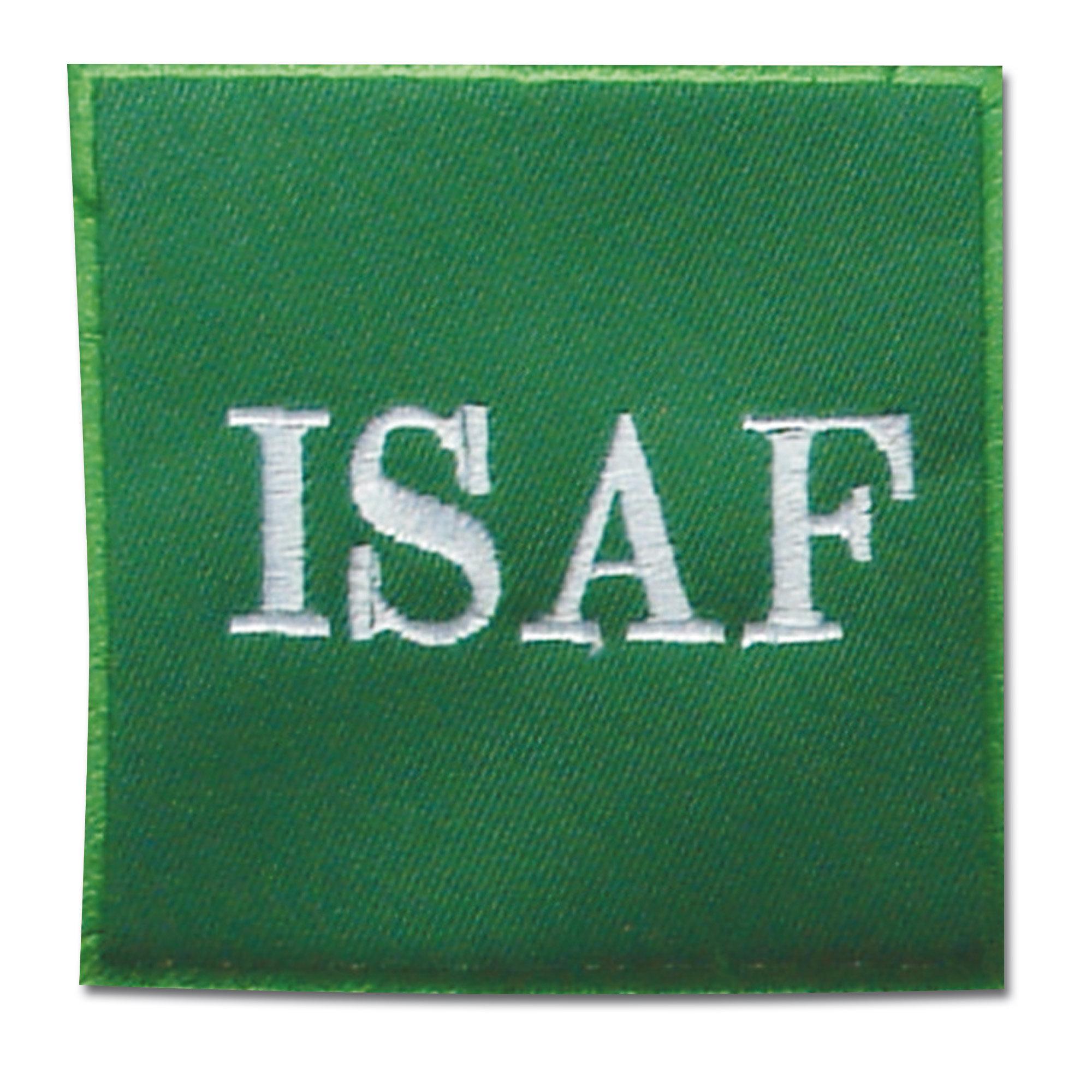 Abzeichen ISAF grün textil