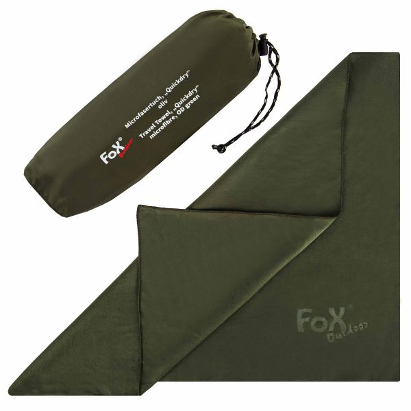 Fox Outdoor Microfasertuch Quickdry oliv 55x42 cm