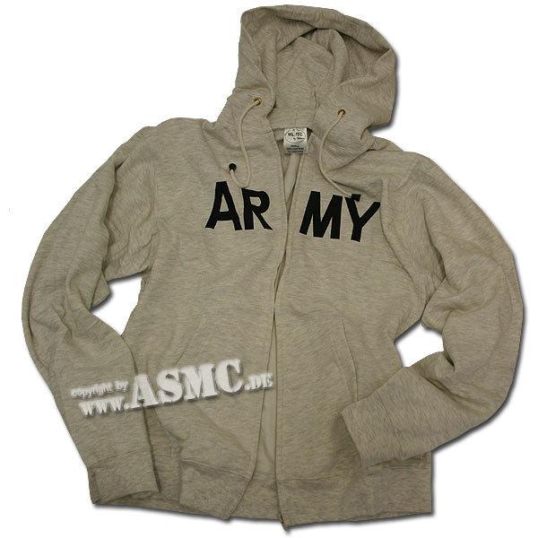 Zip-Hood Sweatshirt grau ARMY