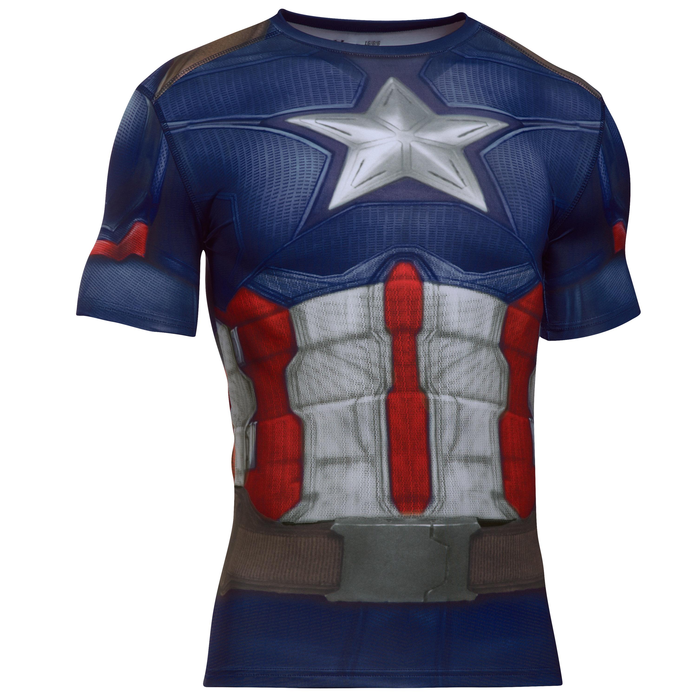 Under Armour Shirt Captain America Suit