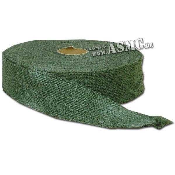Juteband Rolle grün