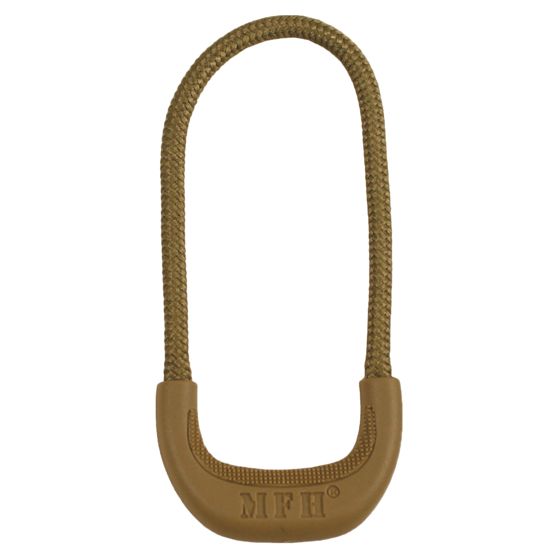 MFH Zipper-Ring coyote tan 10 Stück