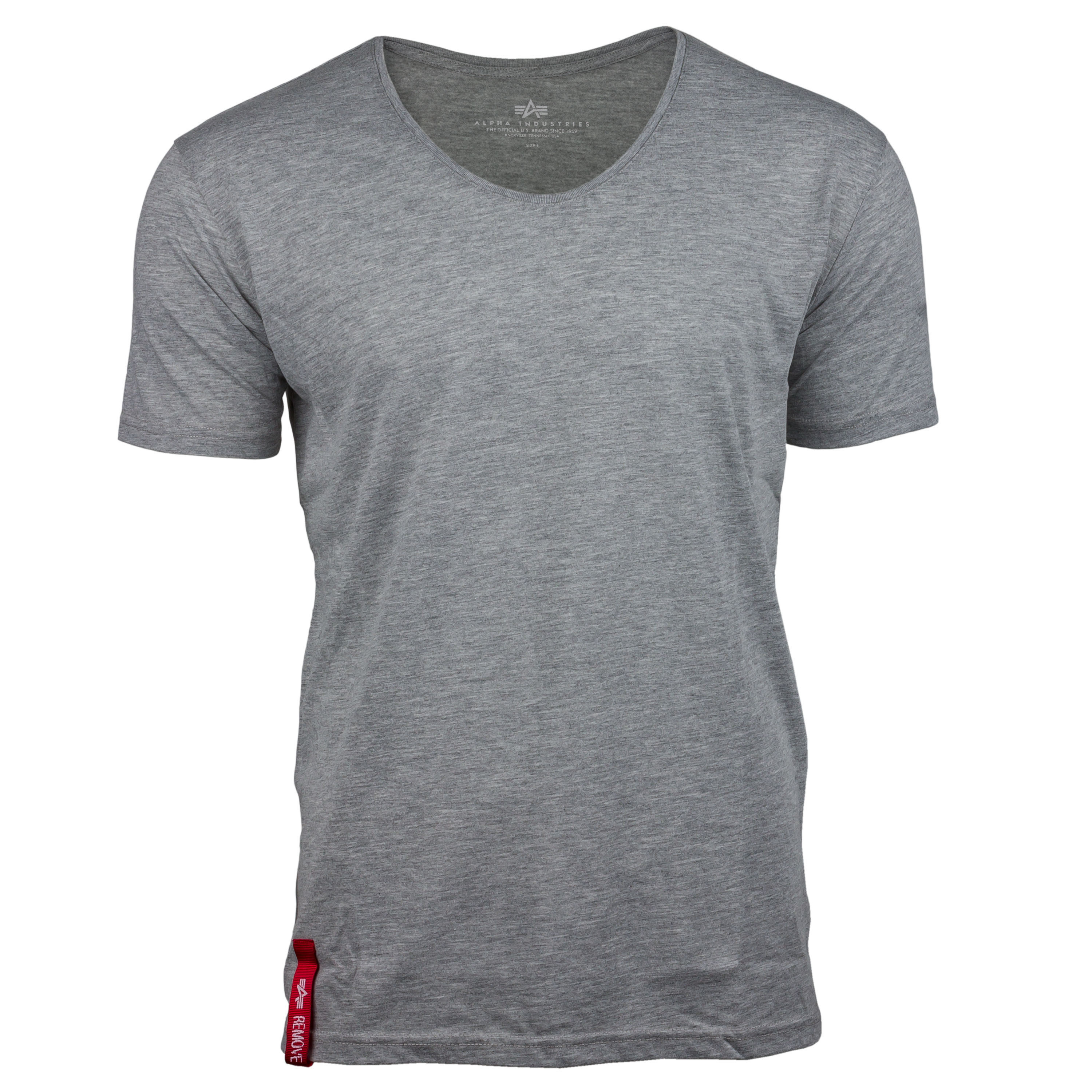 Alpha Industries T-Shirt RBF V-Neck grau