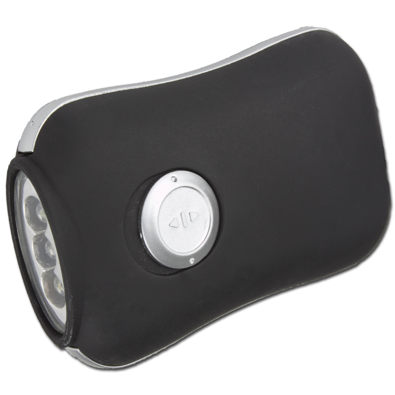Dynamo-Kurbellampe, schwarz, 3 LED