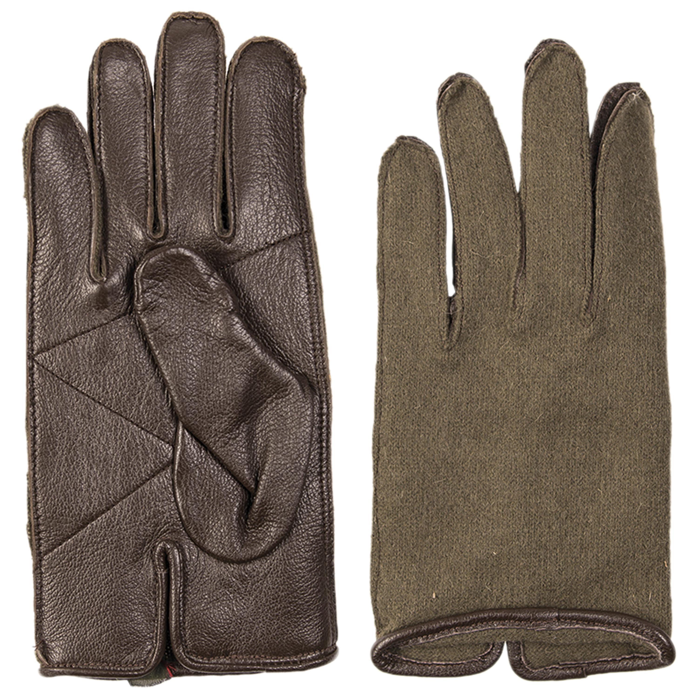 Französische Handschuhe US Typ Leder Wolle neuwertig
