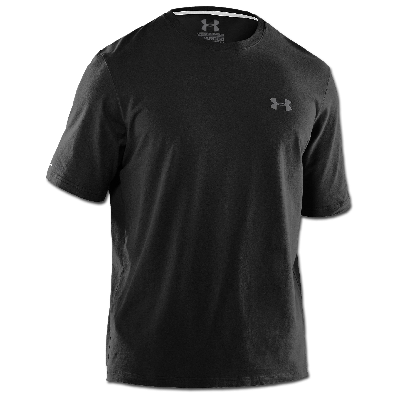 Under Armour HeatGear T-Shirt Charged Cotton schwarz