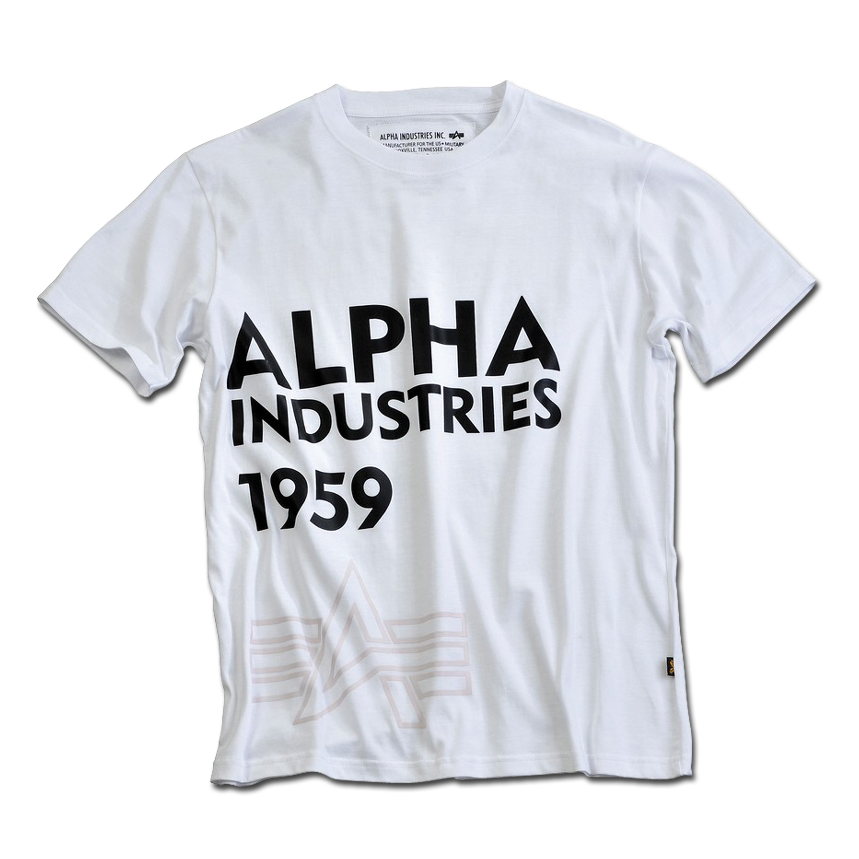 T-Shirt Alpha Basic Print 13 weiß