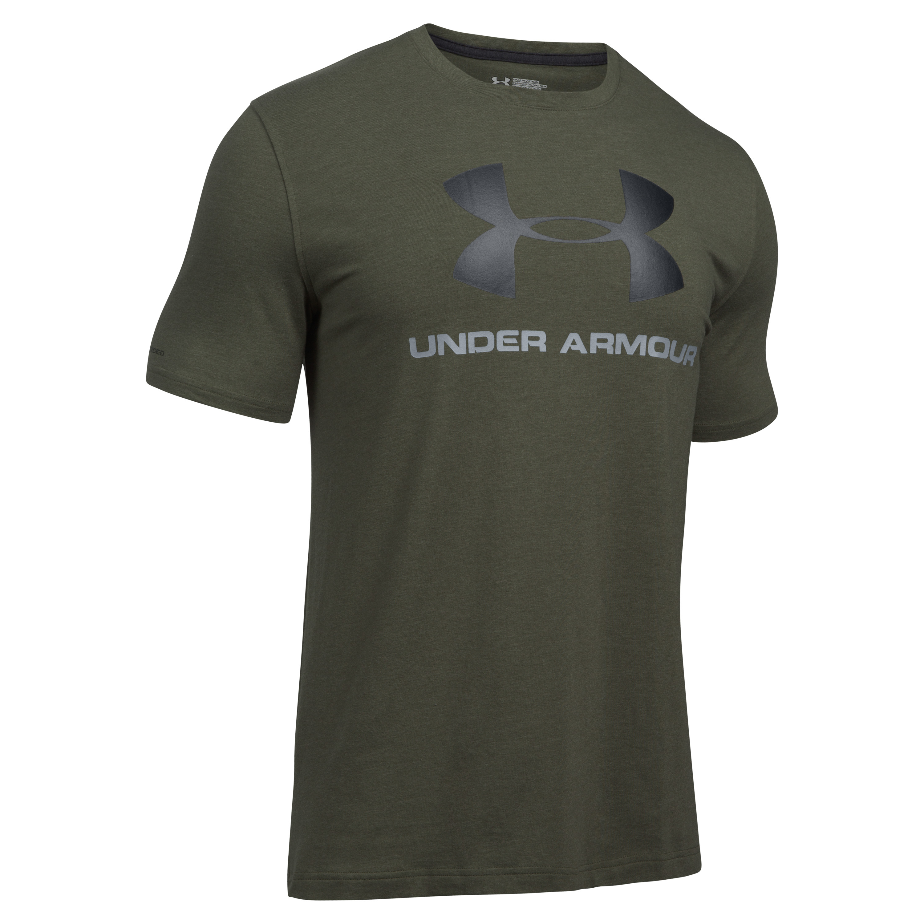 Under Armour Fitness Shirt Sportstyle Logo oliv
