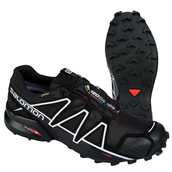 Salomon Schuhe Speedcross 4 GTX schwarz silber