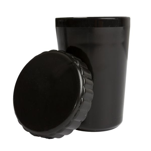 Becher mit Deckel schwarz