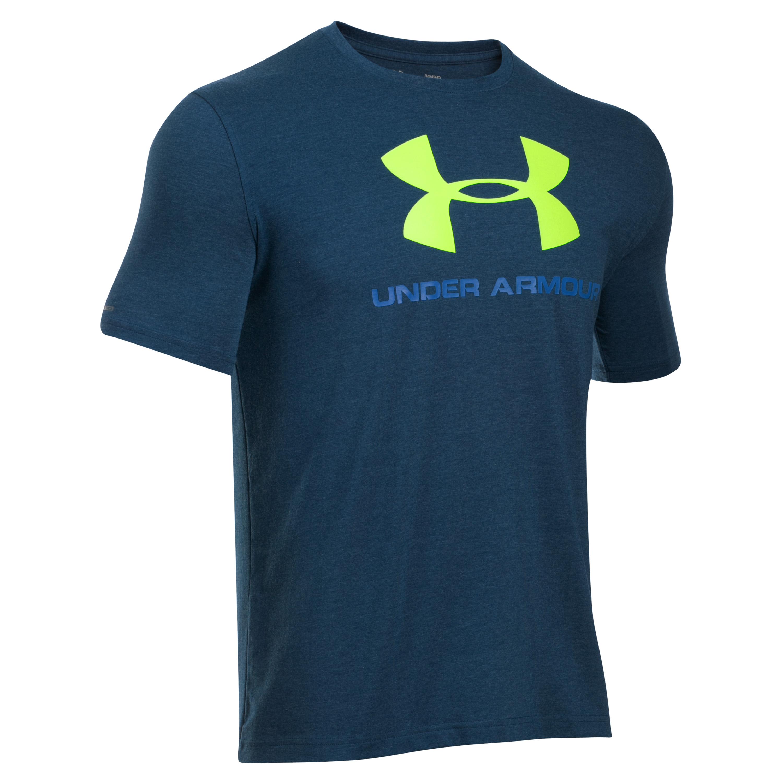 Under Armour Shirt Sportstyle Logo dunkelblau-grün