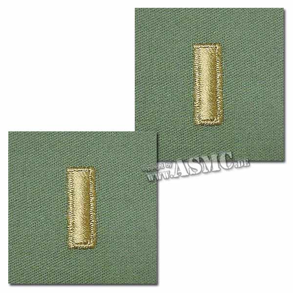 Rangabzeichen US Textil 2nd Lieutenant oliv